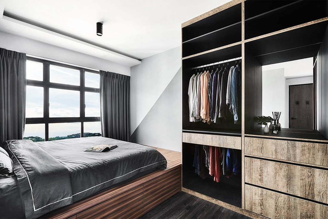 bold colours and patterns in HDB flat master bedroom by IN-EXPAT (2)