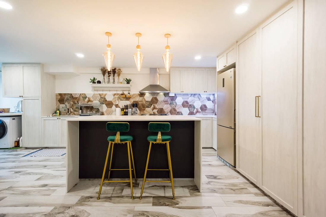 kitchen in scandi meets boho chic resale flat