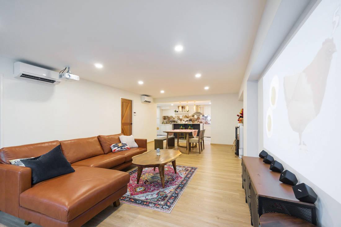 living room in scandi meets boho chic resale flat