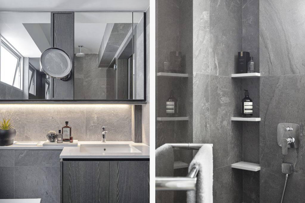 master bathroom in small flat by Joey Khu ID