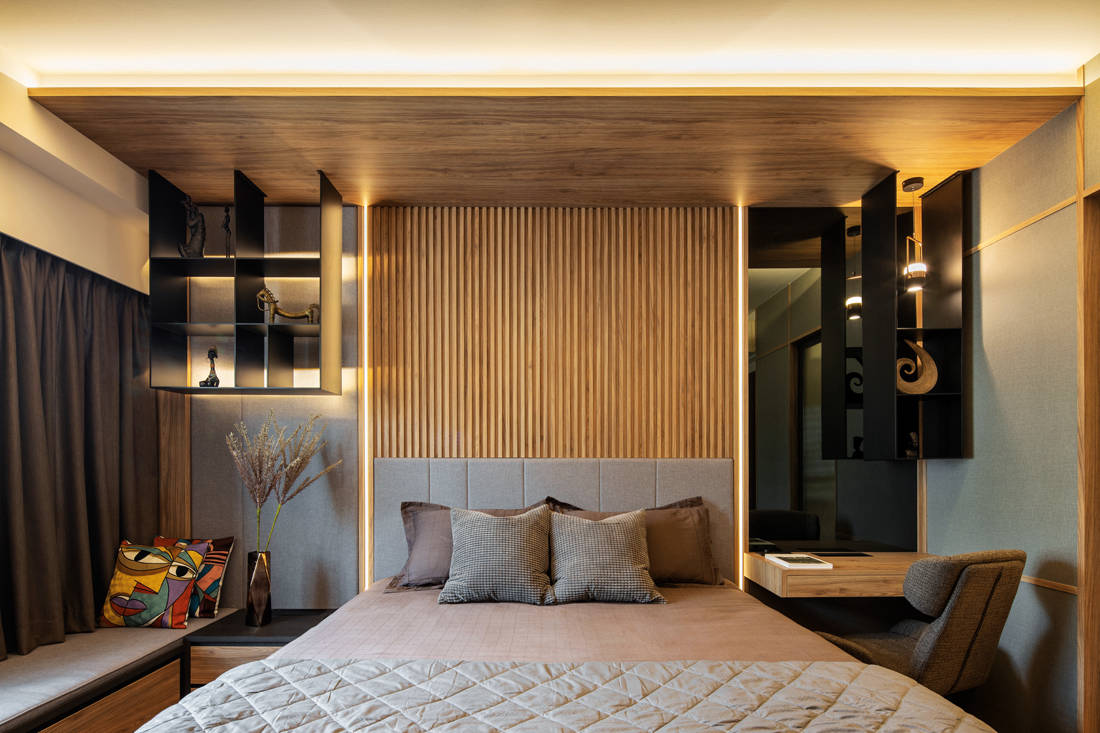 master bedroom in family-oriented home by Obbio Concept