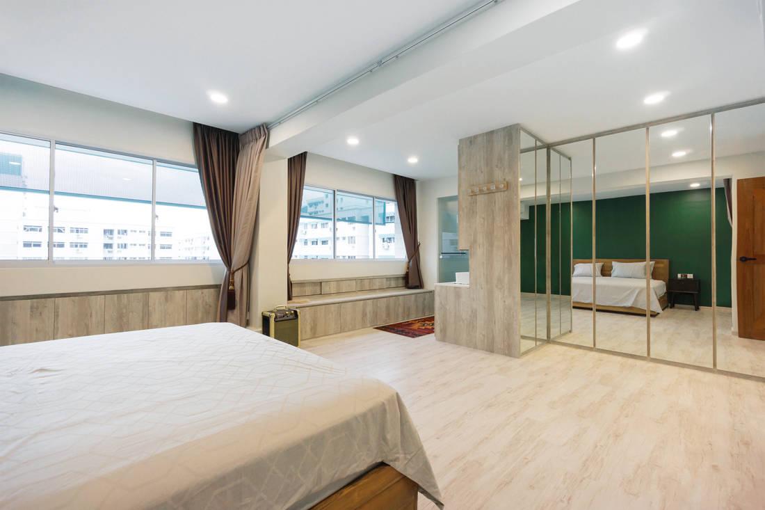 master bedroom in scandi meets boho chic resale flat