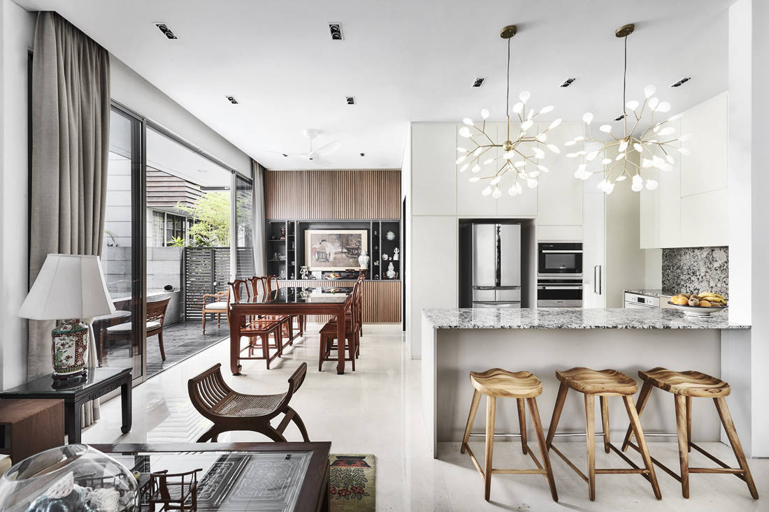 modern Oriental-style cluster house by Third Avenue Studio