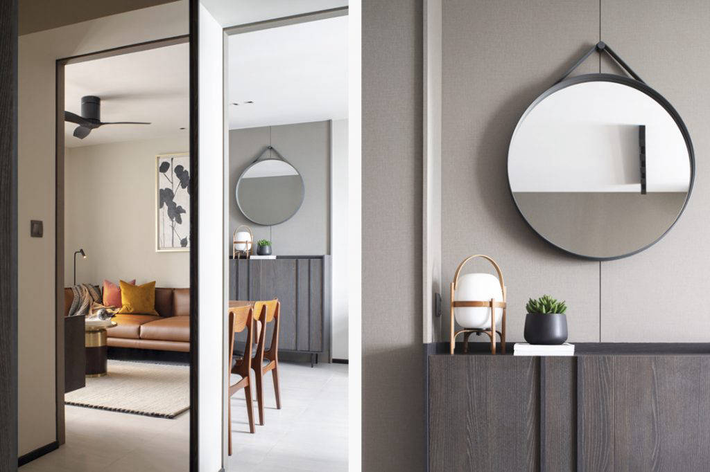 styling in small flat by Joey Khu ID