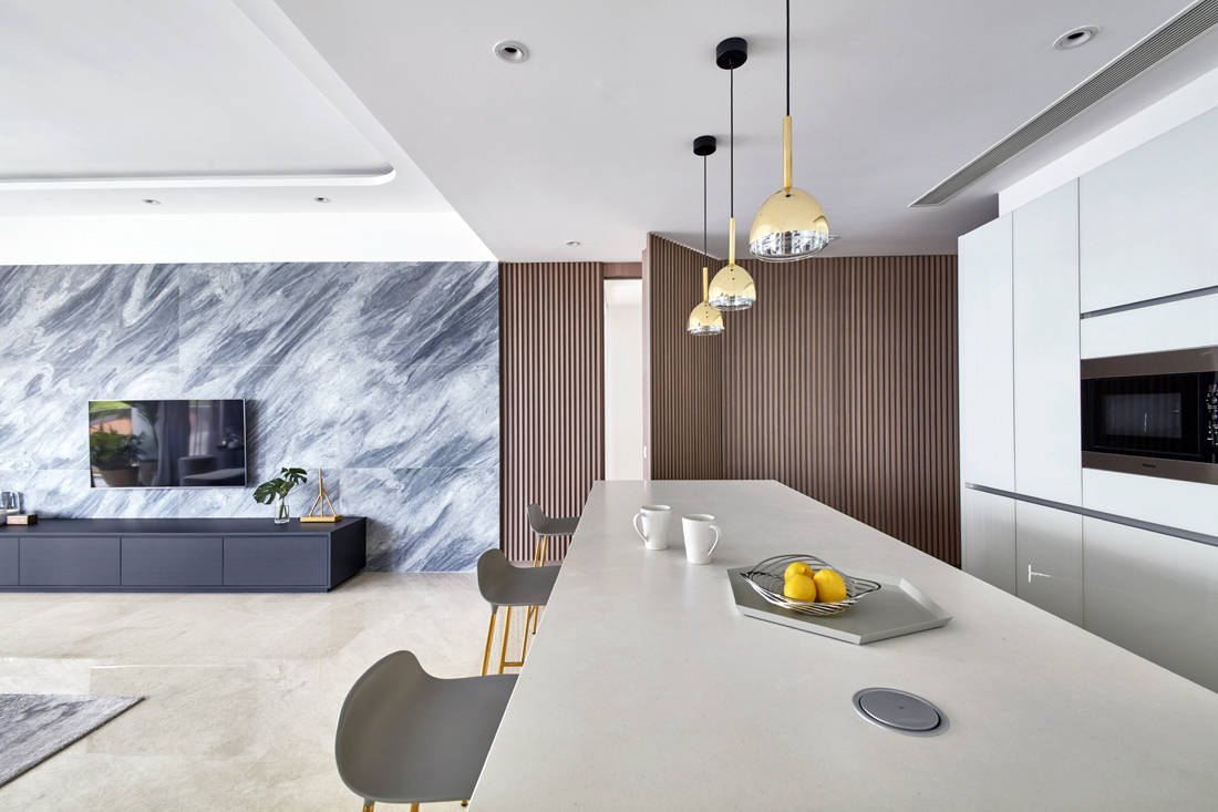 use of marble in Trilight condo by Free Space Intent (2)