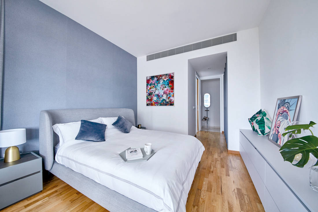 use of marble in Trilight condo by Free Space Intent