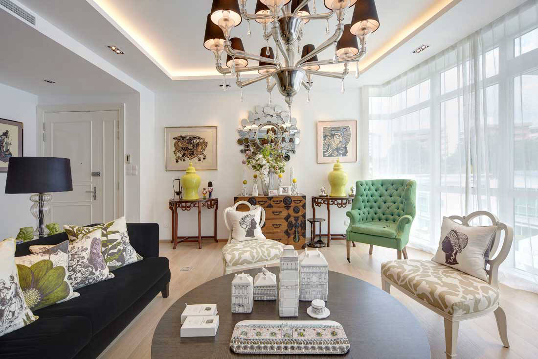 Chinese New Year 2020 chinoiserie style apartment by Poetus