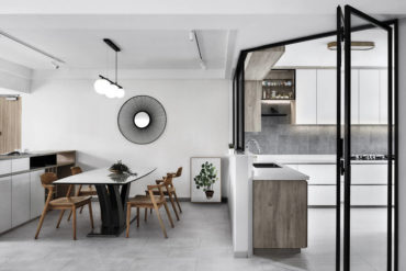 This pared-back, minimalist apartment borrows from the tranquility of Japanese design