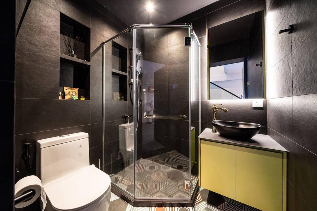 HDB maisonette bathroom by Fineline Design