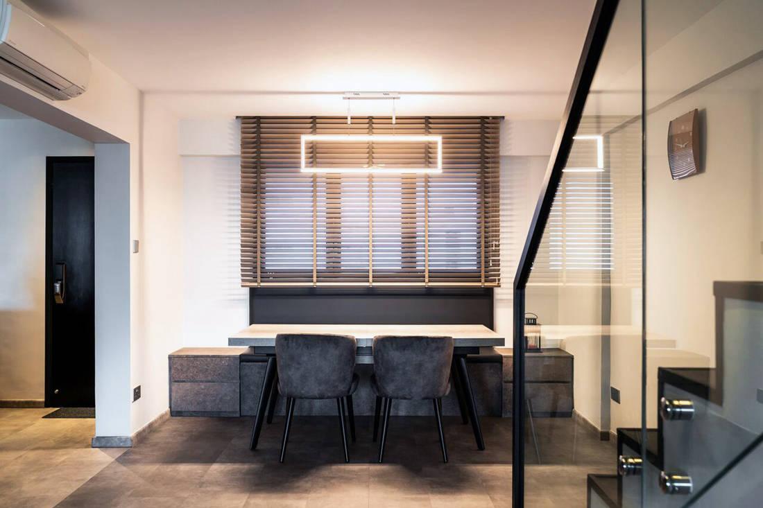 HDB maisonette dining room by Fineline Design