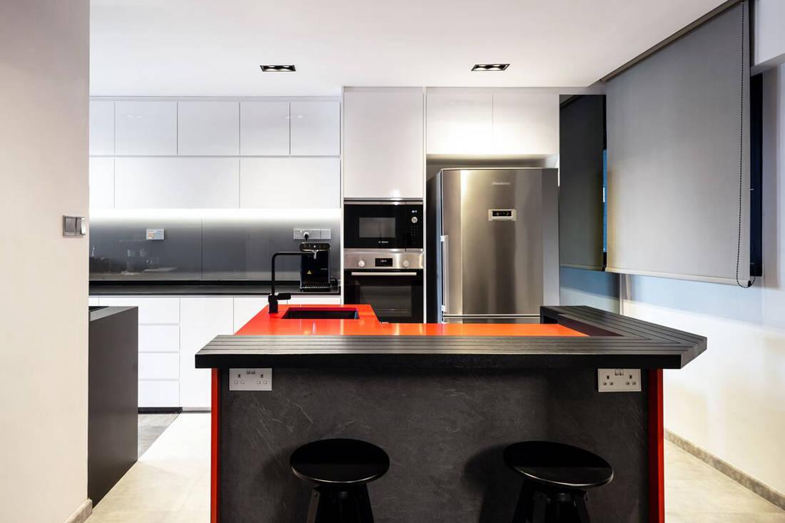 HDB maisonette kitchen by Fineline Design