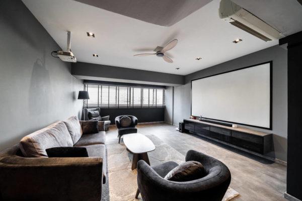 HDB maisonette living room by Fineline Design