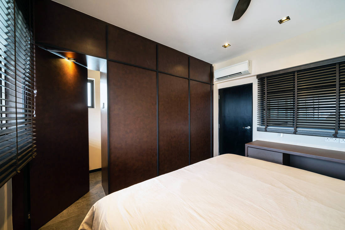 HDB maisonette master bedroom by Fineline Design