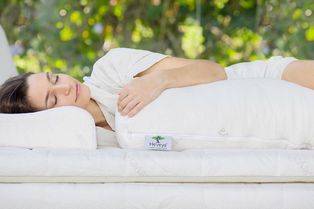 Heveya latex pillow by European Bedding - bolster