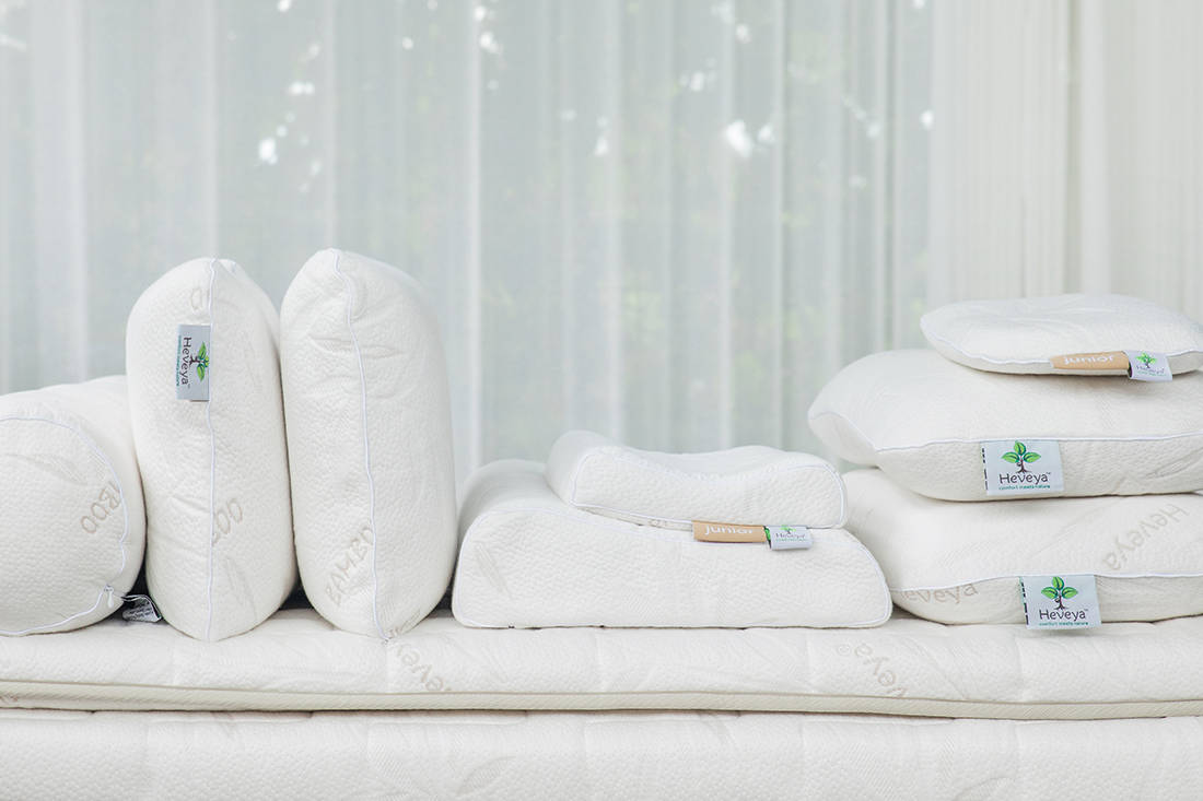 Heveya latex pillow by European Bedding - varieties
