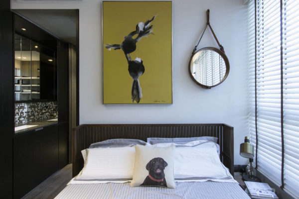 bedroom in tiny apartment by Joey Khu ID (2)
