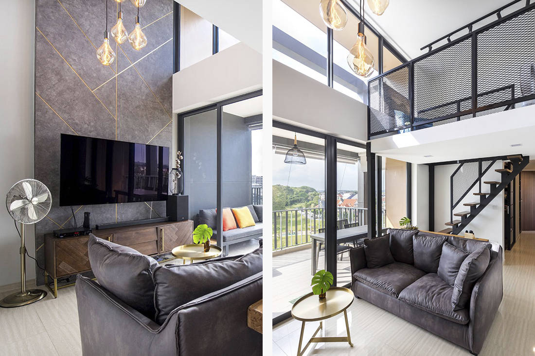 condo with industrial style loft by Forefront Interior (8)