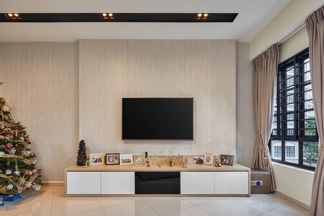 scandinavian minimalism living room by AP Concept