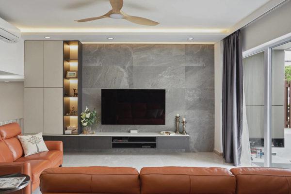 terrace house living room St Nicholas View by Black N White Haus