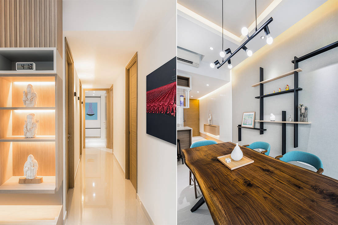 line play inside an apartment by DSOD Interior