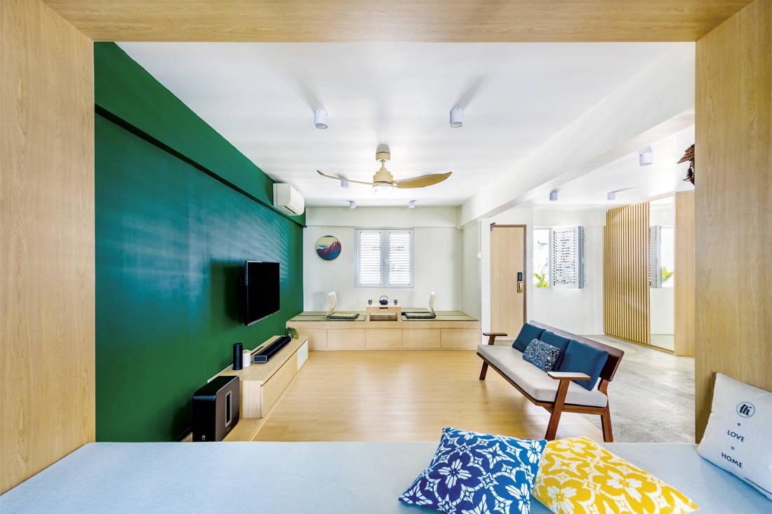 Muji-inspired abode D5 Studio Image - living room