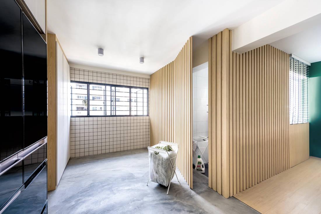 Muji-inspired abode D5 Studio Image - service yard