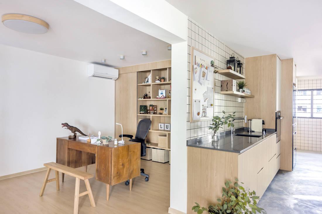 Muji-inspired abode D5 Studio Image - study