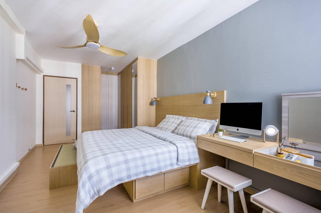 Muji-inspired abode D5 Studio Image - bedroom