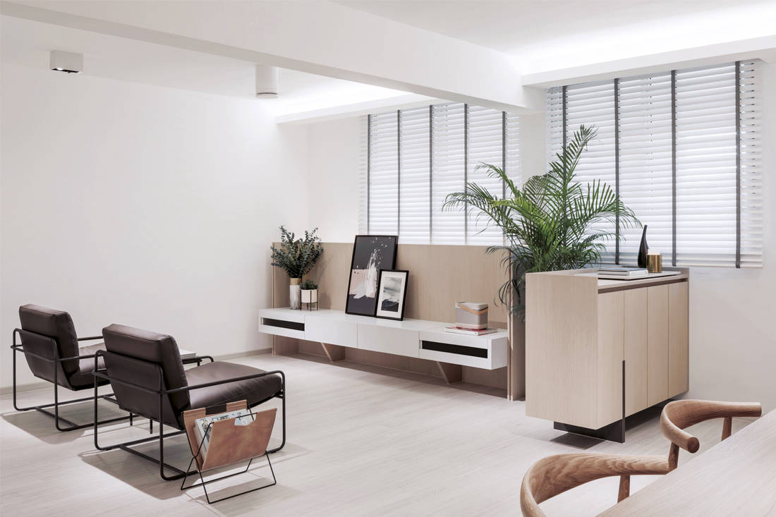 functional and purposeful | Right Angle Studio - Plane Apartment - tv room