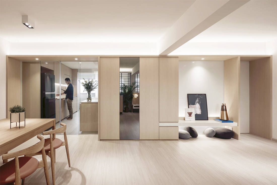functional and purposeful | Right Angle Studio - Plane Apartment - living
