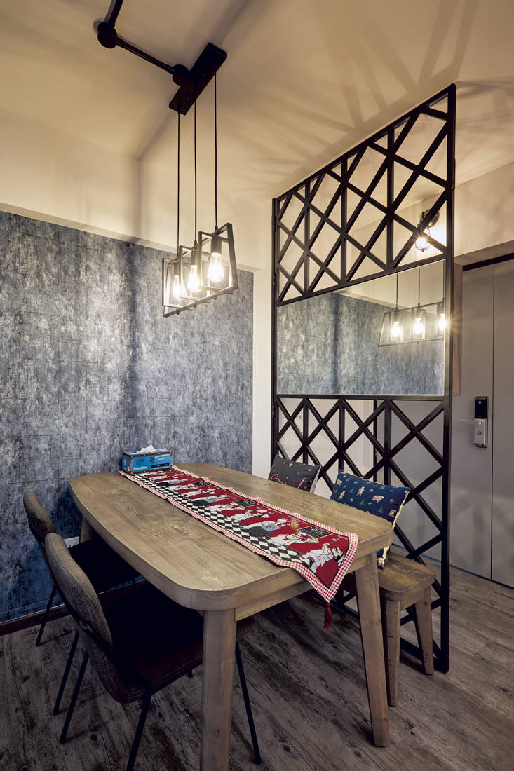 rustic industrial | Dots N Tots Interior - dining area