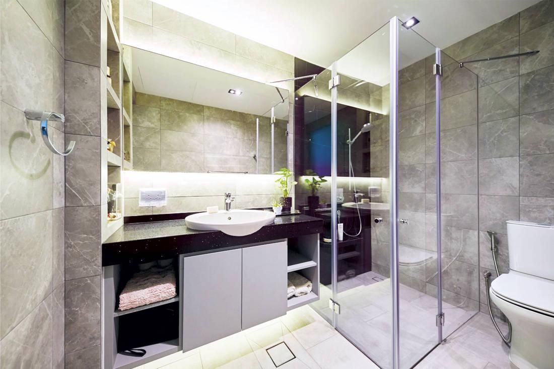 Carpenters Scandinavian open-concept - bathroom