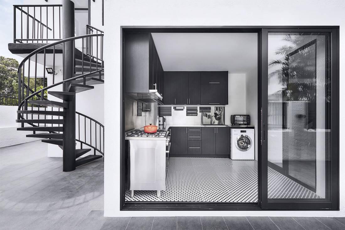 black and white | Third Avenue Studio - kitchen