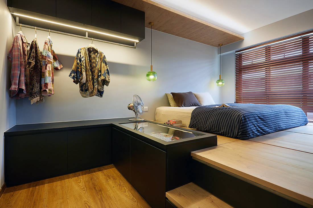 Japanese aesthetic in an HDB flat bedroom by D5 Studio Image