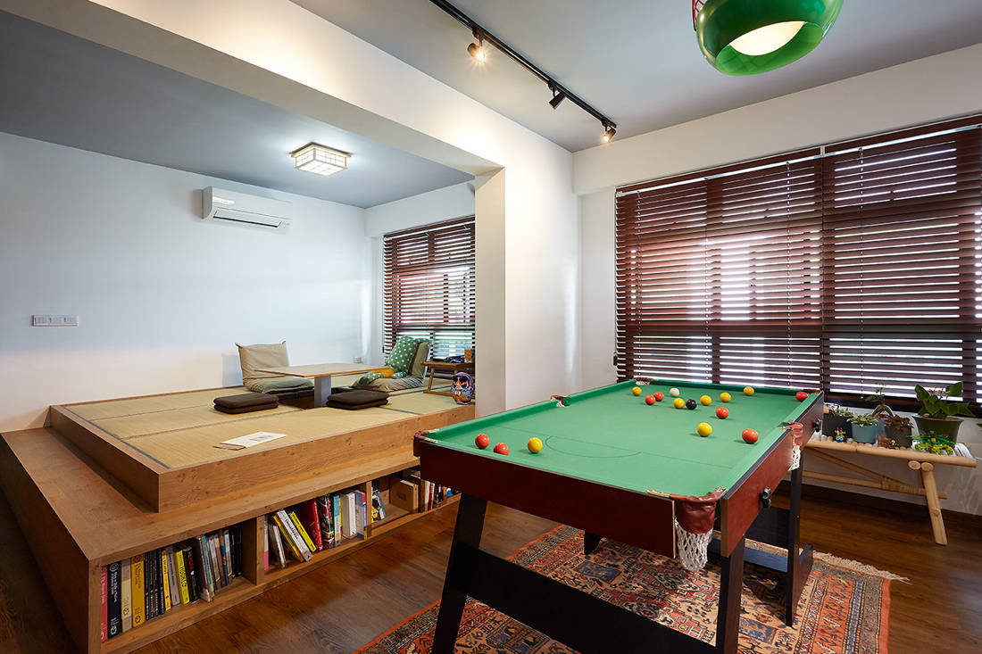 Japanese aesthetic in an HDB flat living room by D5 Studio Image (2)