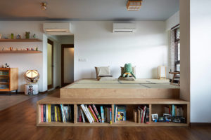 Japanese aesthetic in an HDB flat living room by D5 Studio Image (3)