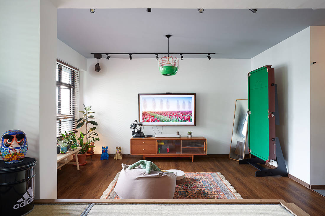 Japanese aesthetic in an HDB flat living room by D5 Studio Image