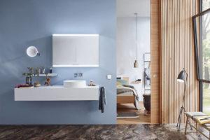 Evo illuminated mirror cabinet from Emco