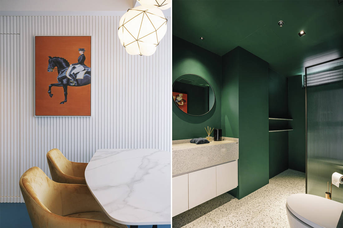 colour blocks D' Initial Concept - bathroom