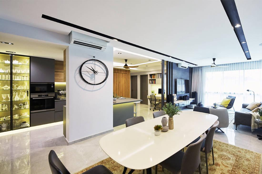 Carpenters Scandinavian open-concept - living room