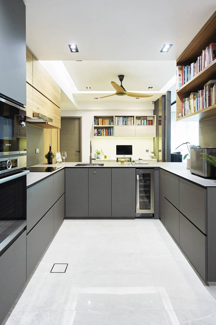 Carpenters Scandinavian open-concept - kitchen