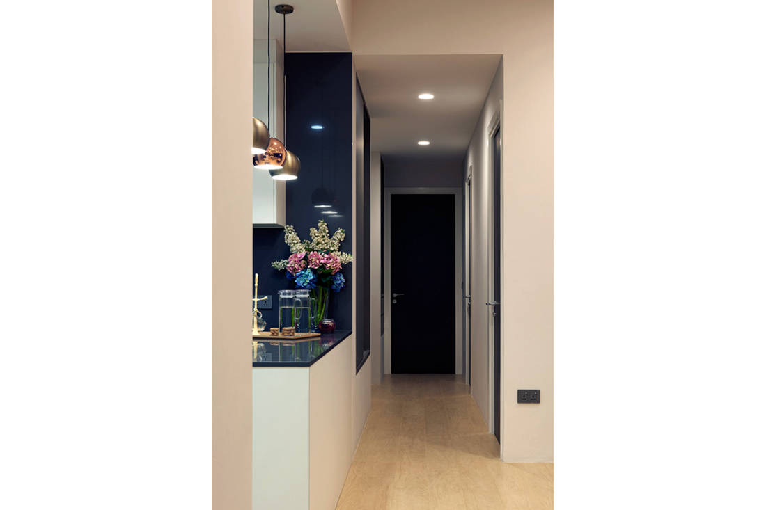 entrance hallway in apartment designed for retirement in style by SPIRE