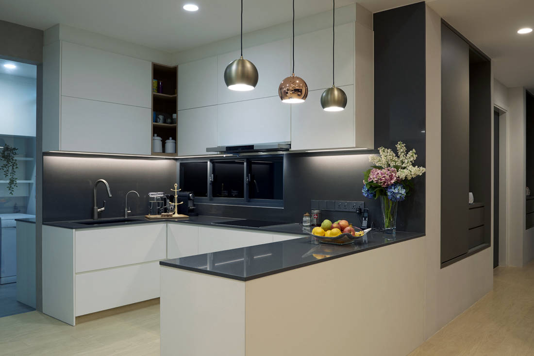kitchen in apartment designed for retirement in style by SPIRE
