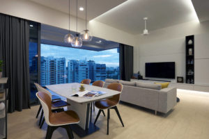 living and dining in apartment designed for retirement in style by SPIRE