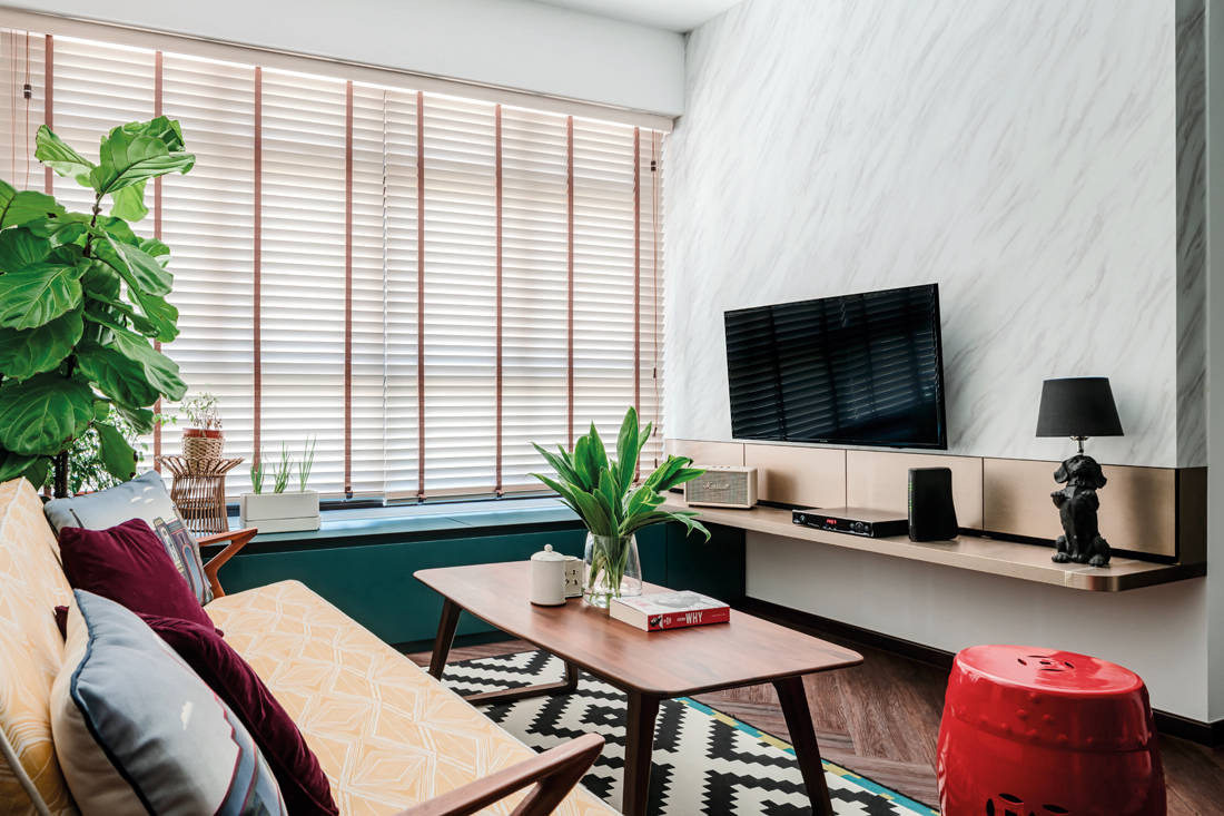 modern tropicana in an HDB flat by Ethereall