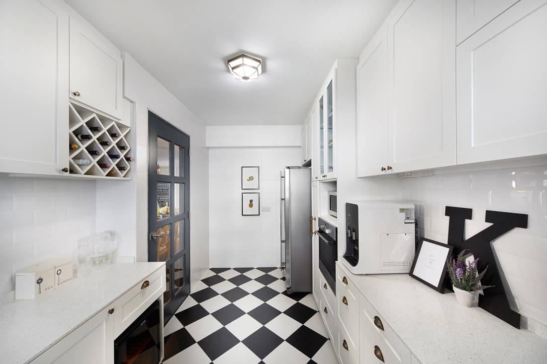 European inspired HDB flat by Black N White Haus