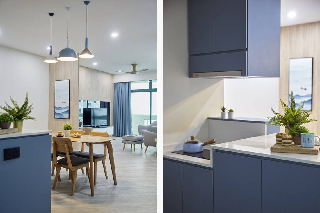 blue as main colour palette in resale condo by MET Interior (5)