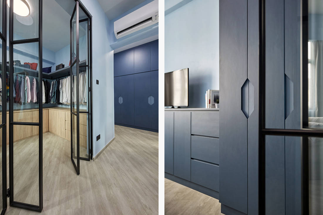 blue as main colour palette in resale condo by MET Interior (6)