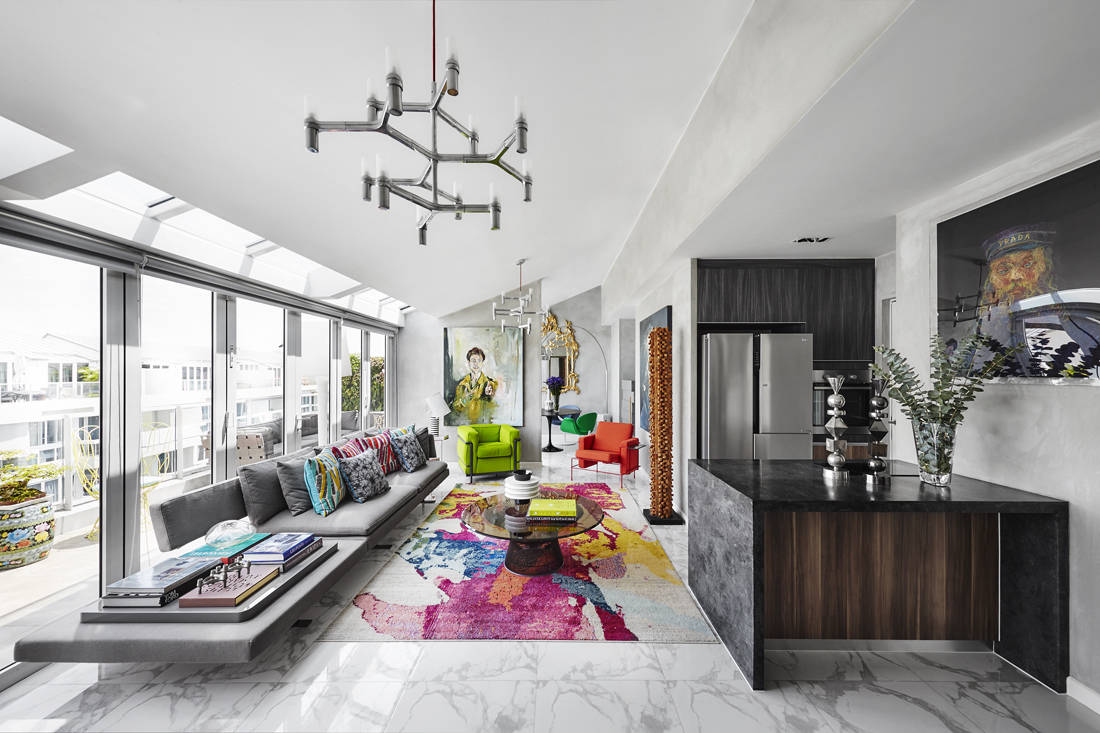 how to inject colour to a space - design by Sazeli Jalal