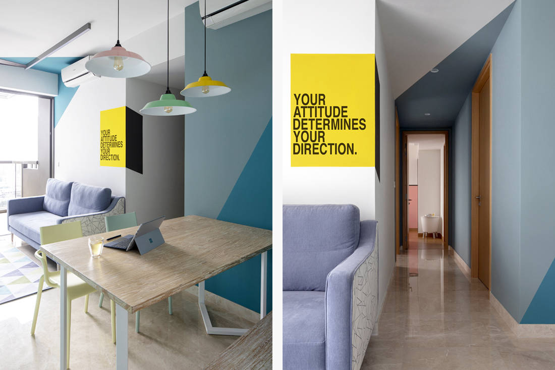 how to inject colour to a space - design by Versaform